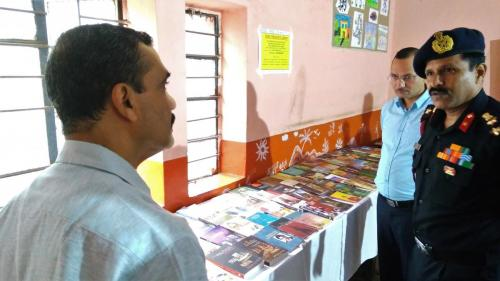 Brigadier P. Ramesh, Station Commander, Military Station, Deolali visits Book Fair at Kendriya Vidyalaya School